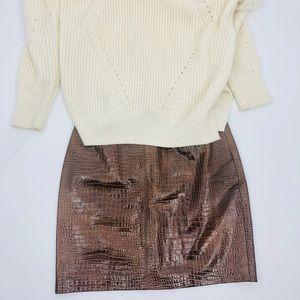 ✨🍂Stunning Escada Croc Textured Leather Skirt